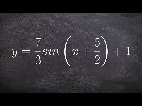 How to Find the Amplitude, Period, Phase Shift and Vertical Translation of Sine