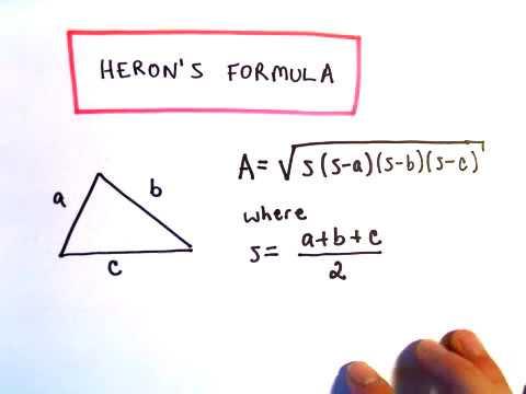 Heron's Formula : Area of a Triangle