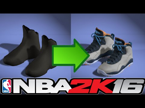 NBA 2K16 How To Make Shoes 👟🔌🔥  ⋆#NBA2K16⋆