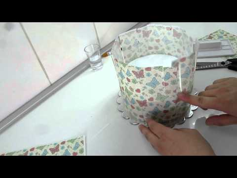 covering cake with edible paper