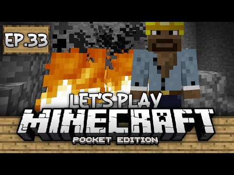 Survival Let's Play Ep. 33 - Building A Blacksmith!!! - Minecraft PE (Pocket Edition)