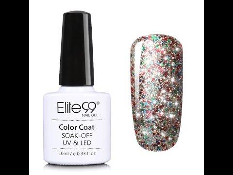 Elite99 Soak Off UV LED Starry Gel Nail Polish Video Tutorial