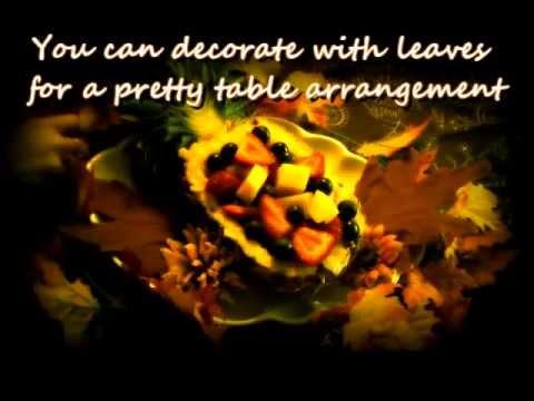 ~Pretty Pineapple Fruit Bowl~ Autumn Recipes~Piña