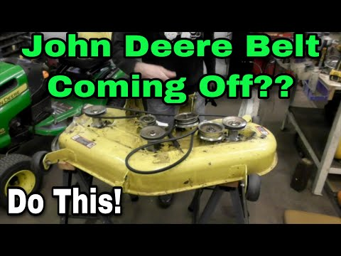 How To Fix Your Belt From Coming Off On John Deere L120, LA130, LA140 Riding Mowers - with Taryl