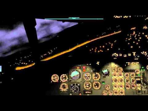 X Plane - Approach LFLB rwy 36 - FlyJSim 732