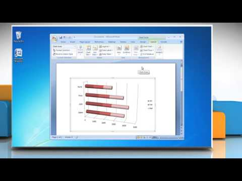 How to make a bar graph in Microsoft® Word 2007