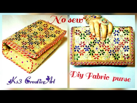 DIY How to make a Hand Bag / Purse at Home | Bag Tutorial No sew | Make Bridal clutch / Handbag