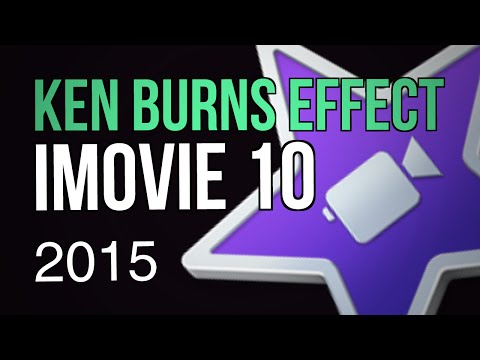 The Ken Burns Effect on Images in iMovie 10 - 2015