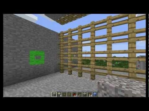 Minecraft Tutorial: Castle Gate (Portcullis)
