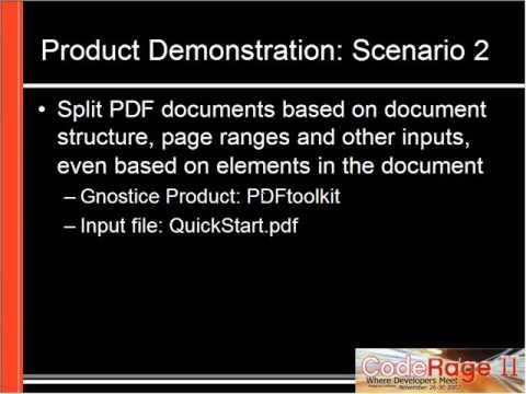 Gnostice - CodeRage 2 - Top 5 PDF User Needs Solved using Gnostice PDF Tools