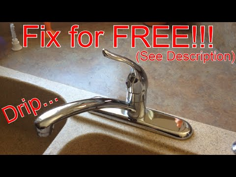 FAST leaky faucet fix!!!  Moen 1225 cartridge replacement.