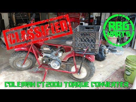 Coleman CT 200U Gets A Torque Converter ~ Mini Bike Monday