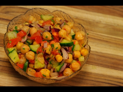 Chickpea salad - healthy recipe channel - vegan recipes - vegan protein - vegetarian recipe