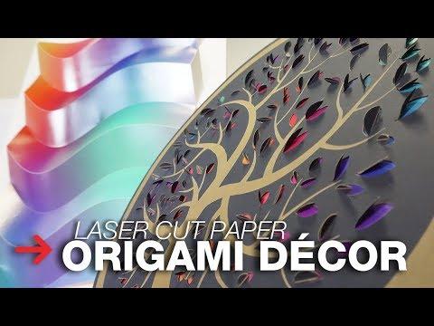 Laser Cut Origami | Laser Cutting Paper Décor | Interior Design