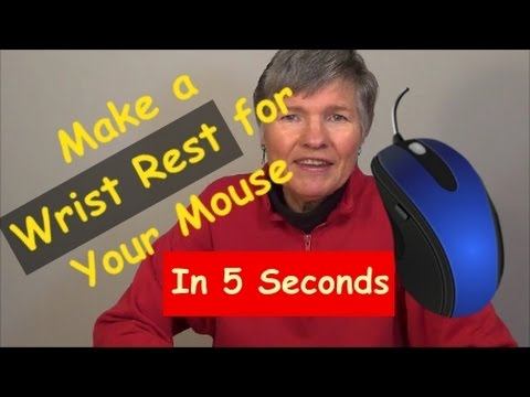 Make a Mouse Wrist Rest in 5 Seconds for Free