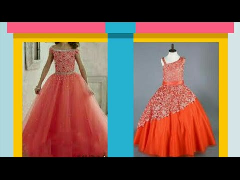 Long party wear kids dress front open with 2 layer cutting ,stitching full tutorial
