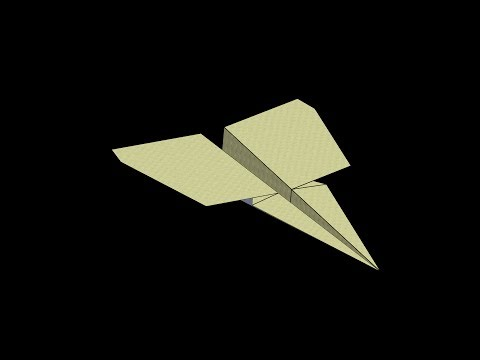 Marlin Paper Airplane: 3D Folding