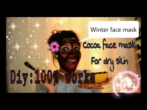 HOW TO Get healthy glowing skin IN WINTERS /face pack/MASK for dry dull skin FAIRNESS PACK/ COCOA