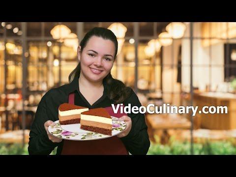 Chocolate Mousse Cake Recipe - White & Dark - Video Culinary