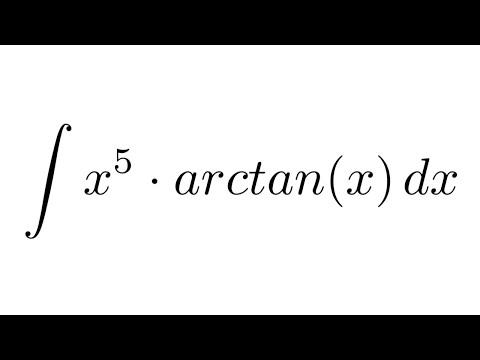 Integral of (x^5)*arctan(x) (by parts)