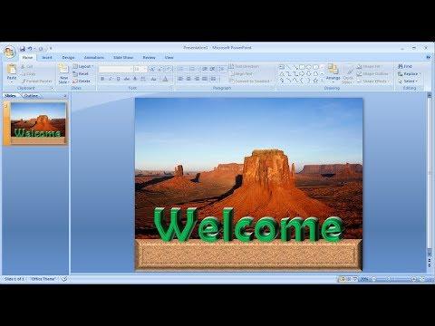 Tutorial powerpoint 2007 |Cara Membuat Teks 3D Anda Sendiri di Powerpoint