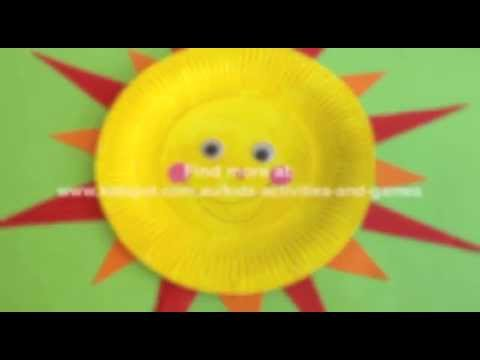 How to make a Paper plate sun