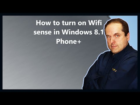 How to turn on Wifi sense in Windows 8.1 Phone