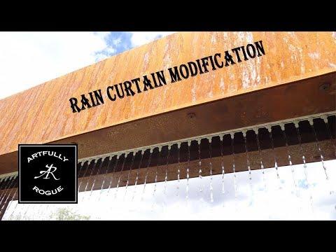 Water Feature Rain Curtain Modification