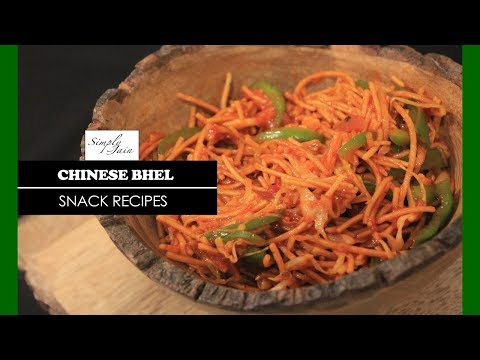 Chinese Bhel   How To Make Homemade Chinese Bhel   Street Food   Simply Jain