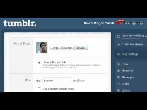 How to Change Tumblr Picture
