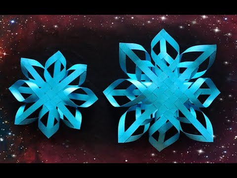 ABC TV   How To Make 3D Snowflake Paper #2- Craft Tutorial