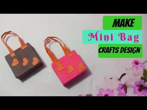 Tutorial Mini Paper Bag Making at Home Simple and Easy diy Fancy Bag  || Crafts Design