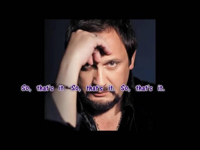 Stas Mikhaylov That's it (Nu vot i vse) with English lyrics