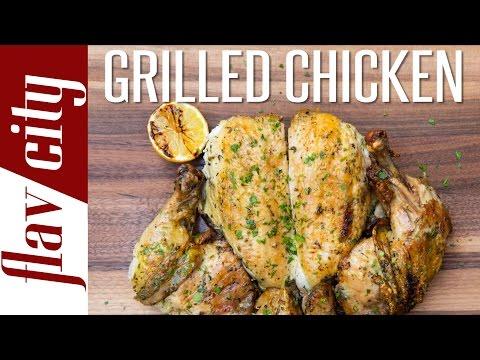 How To Grill Chicken - BEST Lemon Herb Grilled Chicken Recipe