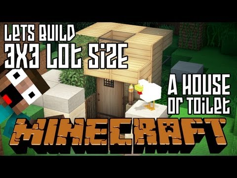 Minecraft Lets Build HD: House or Outdoor Toilet 3x3 Lot