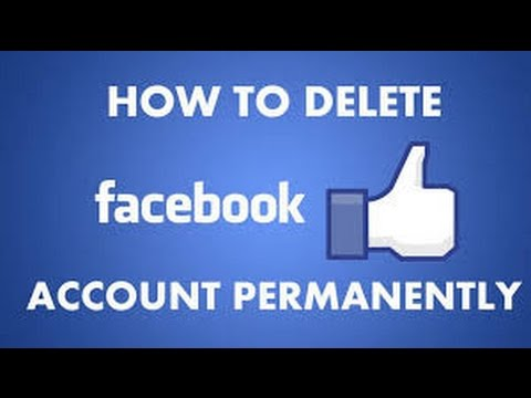 How to delete facebook account permanently 2015