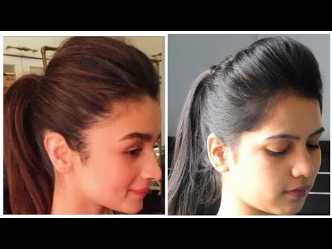 1 Minute Perfect High Ponytail With Puff | Ponytail With puff Tips And Tricks|| TipsToTop By Shalini