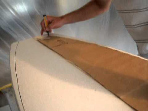 4 Marking out template - How to make your own Surfboard.AVI
