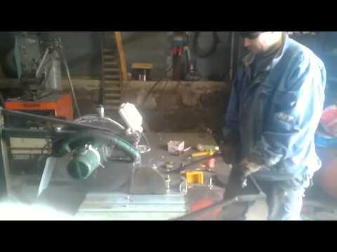 Homemade rock cutter
