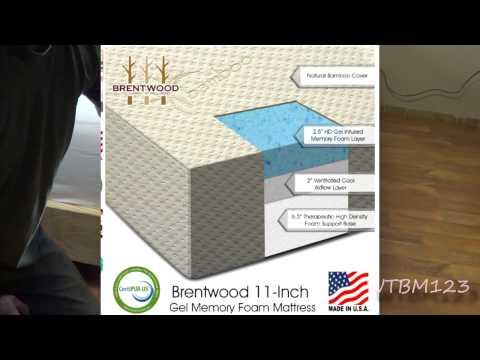 Brentwood 11 inch Gel Infused HD Memory Foam Mattress