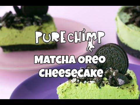 Matcha Oreo Cheesecake Recipe (No Bake)