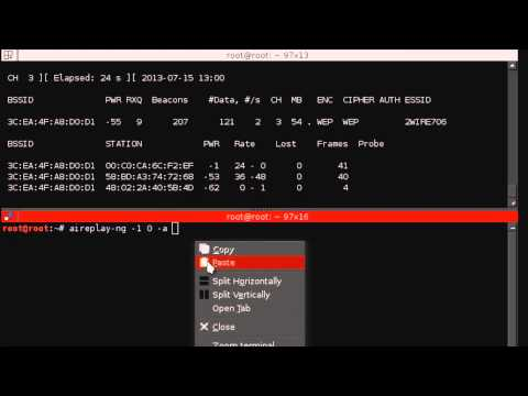 How to crack WEP encrypted network's