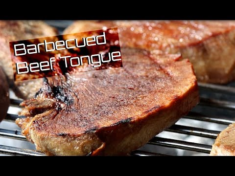 BBQ Tongue Recipe _ BBQ Beef on open flame charcoal Grill _ How to Barbecue Beef Tongue