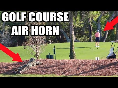 GHILLIE SUIT GOLF COURSE AIR HORN!! BEST MOMENTS!! **Prank Compilation** | JOOGSQUAD PPJT