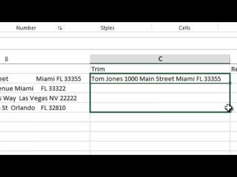 Excel 2013 Tutorial 11: Adv Functions (Trim, substitute, replace)