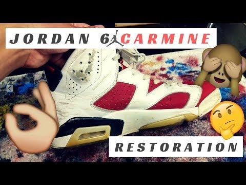 Jordan 6 Carmine Restoration! Does Reshoev8r work? Angelus Paint? Plus Sole Deoxidization