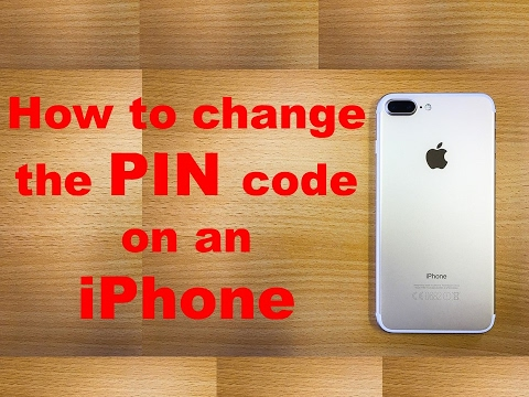How to change the PIN code on an iPhone