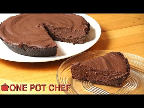 Ultimate No Bake Chocolate Pie | One Pot Chef