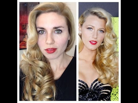 Blake Lively Retro Curls - Vintage Old Hollywood Glamour Hair Tutorial