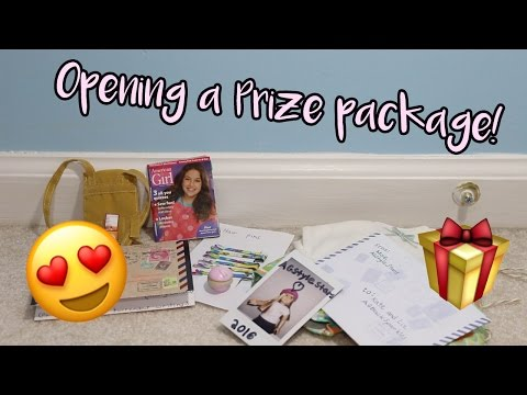 Opening a Prize Package from AGStyleStars